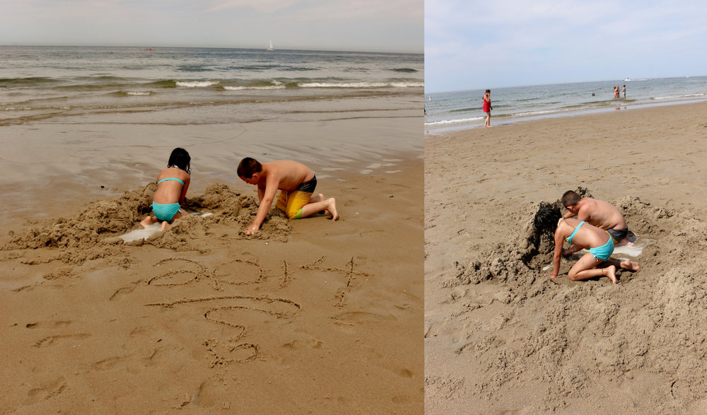 Playing in the sand... June 2014