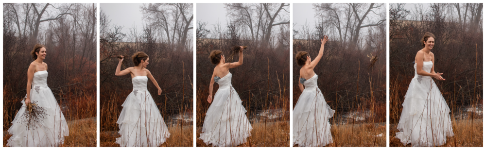 11.26.2018 - ©True Life Photography of MA  Amanda throws the flowers… In the canal.