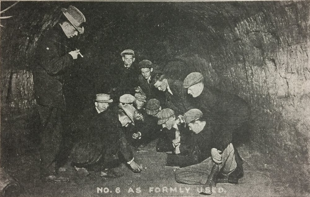 Circa 1910 dice game in tunnel two