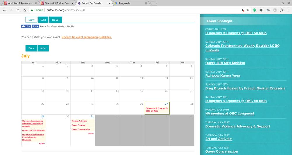 Calendar - Social