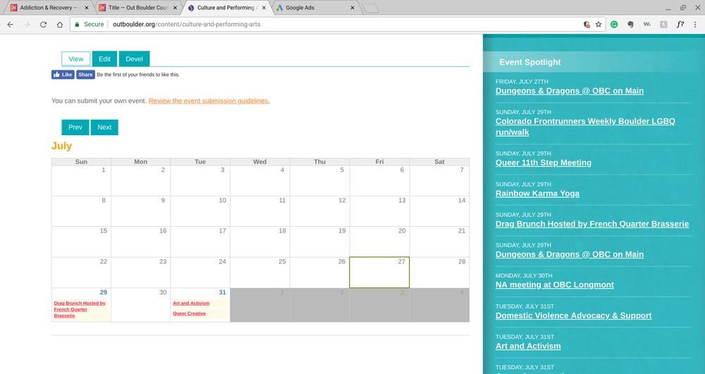 Calendar - Culture & Arts