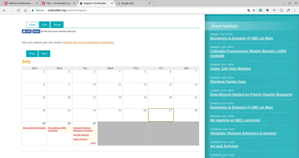Calendar - Support