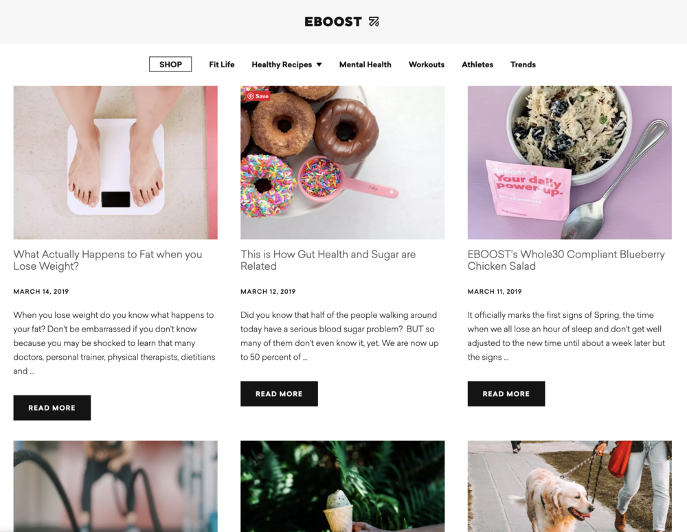 EBOOST Blog Page
