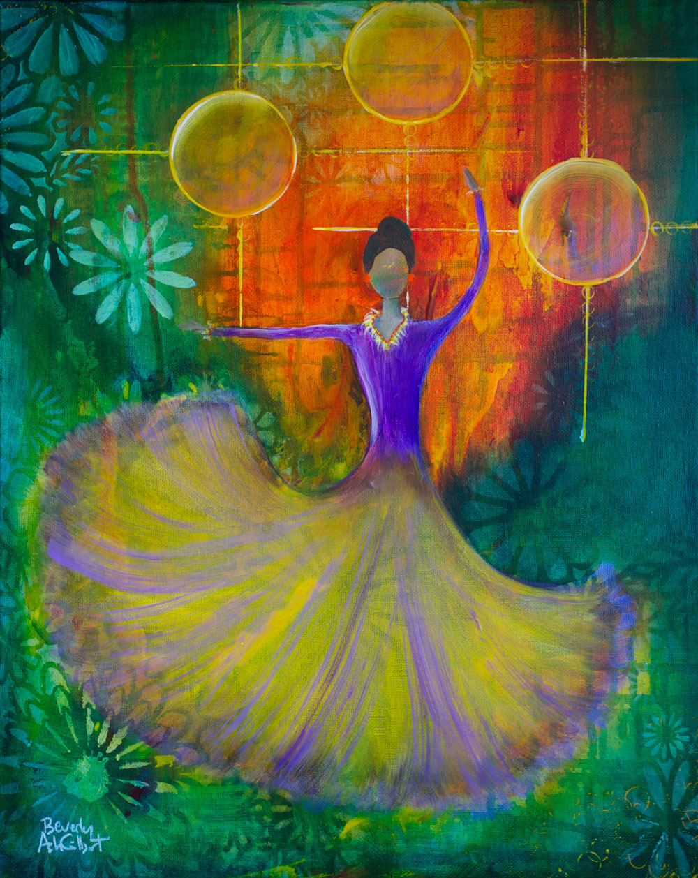 Ballroom Dancer - Dance With Color Painting Collection - Beverly Ash Gilbert