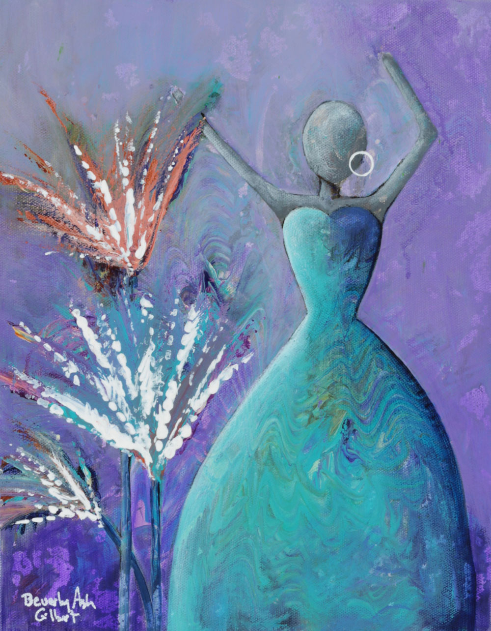 Celebrate Yourself - Dance With Color Painting Collection - Beverly Ash Gilbert