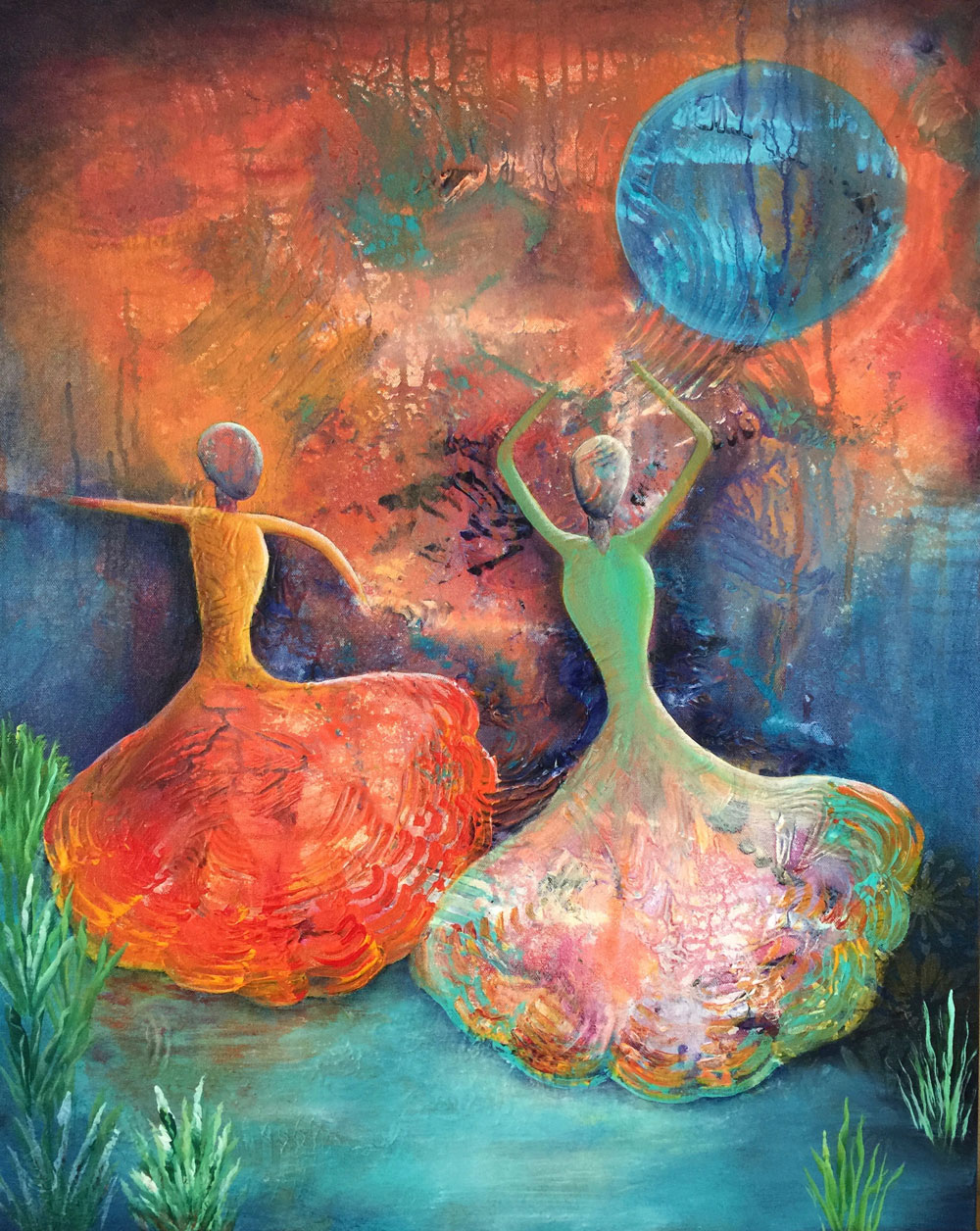 By the Pond - Dance With Color Painting Collection - Beverly Ash Gilbert