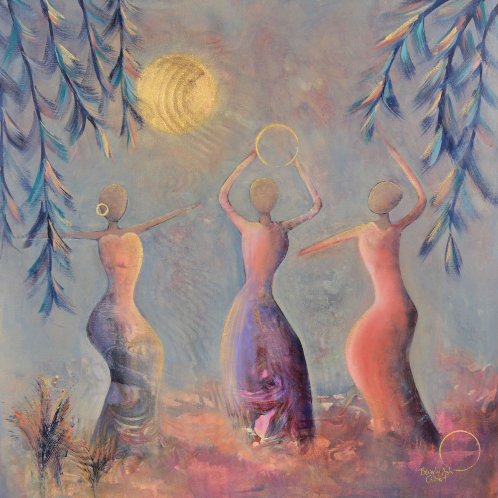 Dance In The Golden Morning Mist - Dance With Color Painting Collection - Beverly Ash Gilbert
