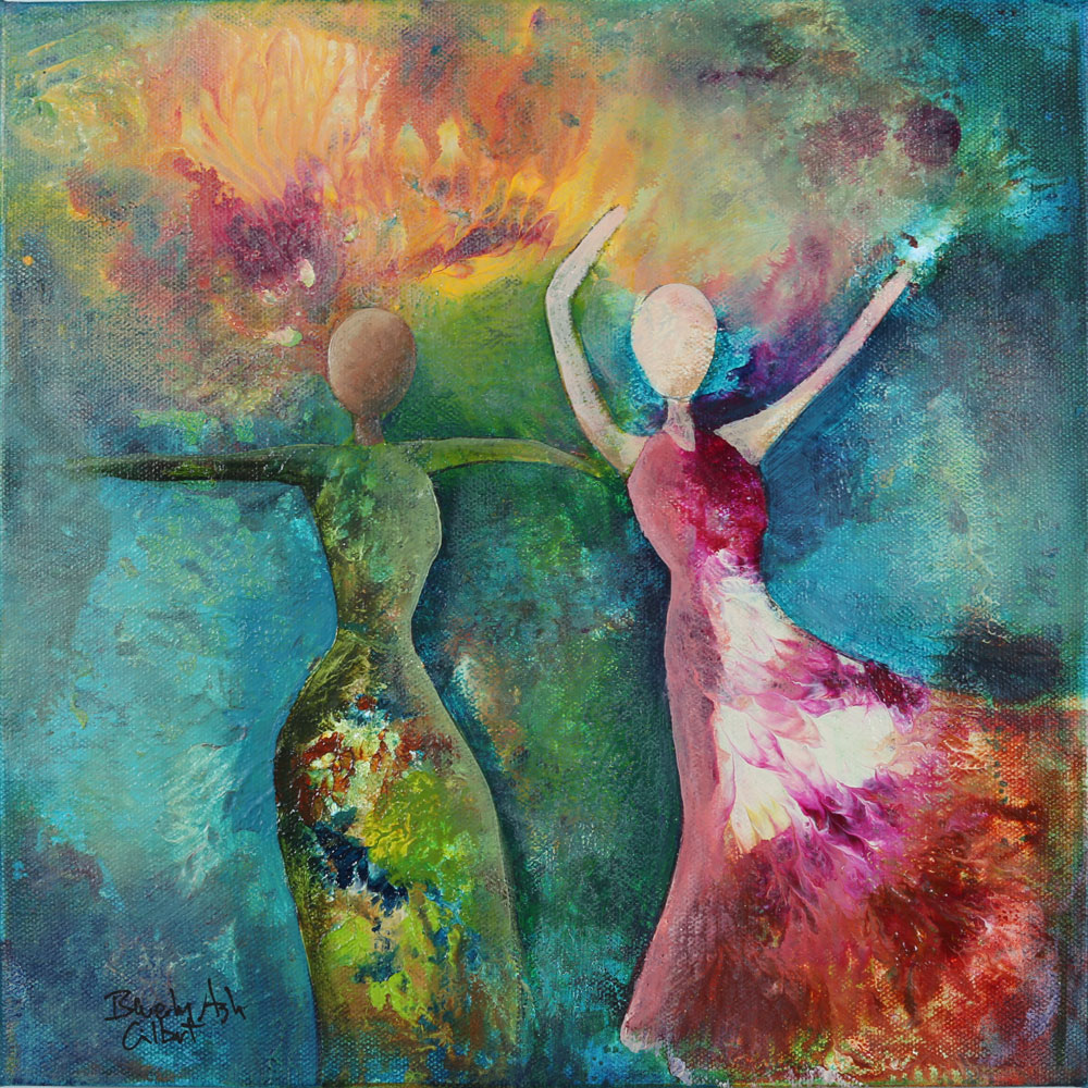 Dance In The Breeze - Dance With Color Painting Collection - Beverly Ash Gilbert