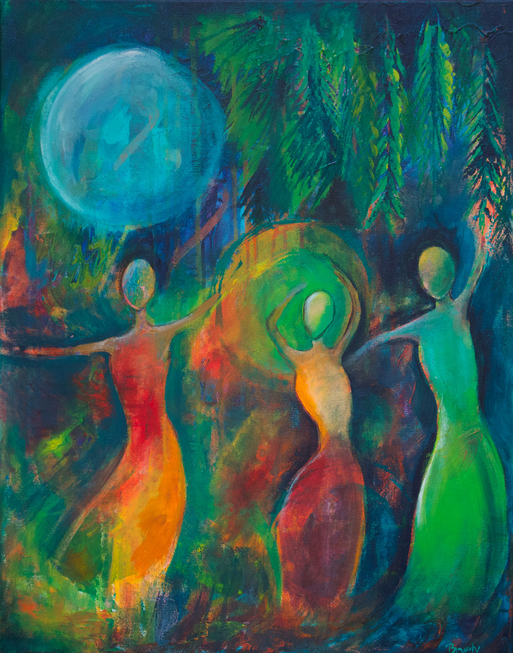 Moon Dance - Dance With Color Painting Collection - Beverly Ash Gilbert