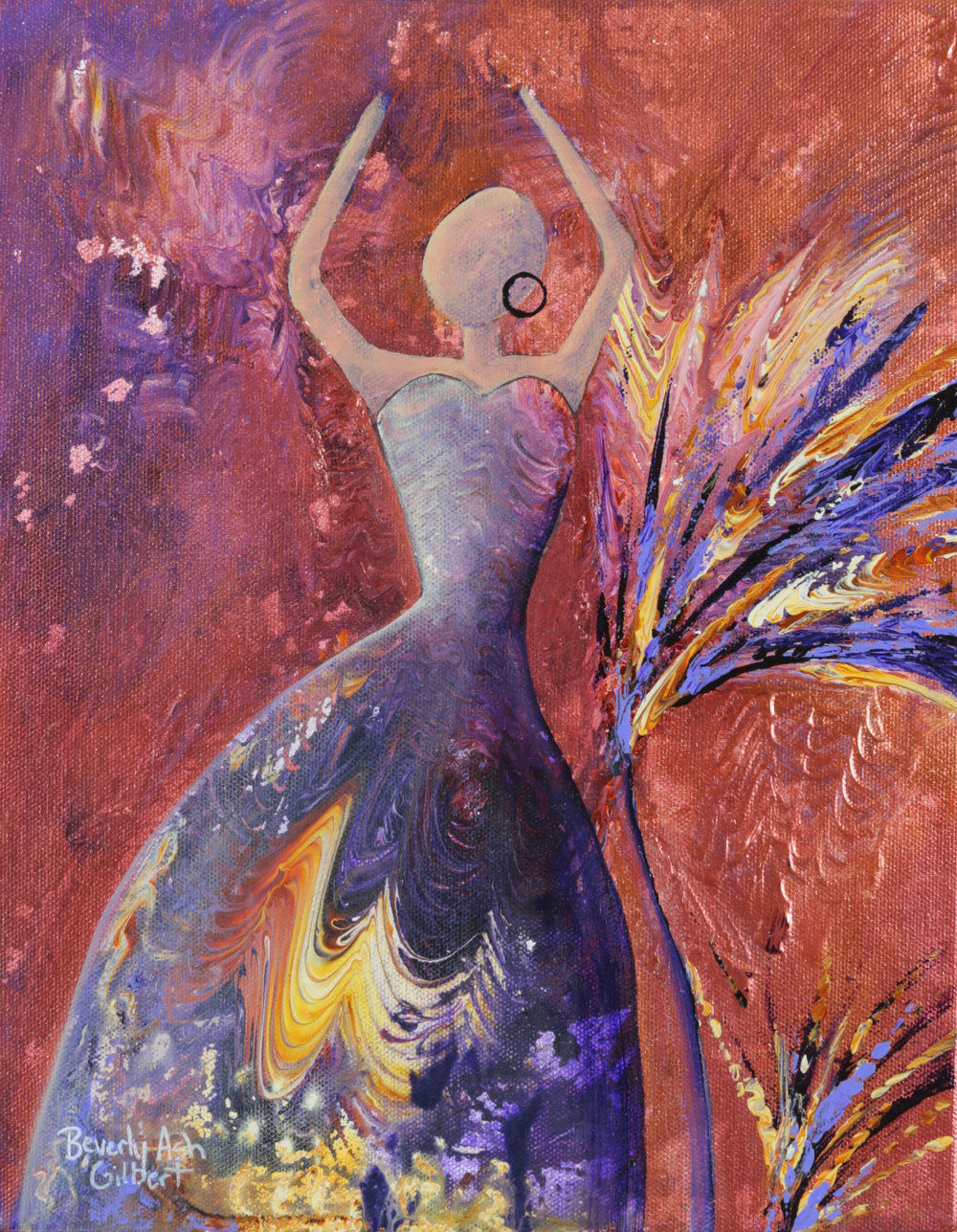She Loves To Wear Purple - Dance With Color Painting Collection - Beverly Ash Gilbert