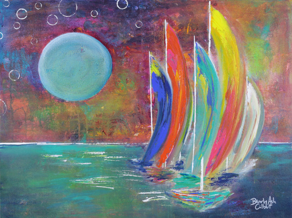 Moonlight Regatta - Sea of Color Painting Collection - Beverly Ash Gilbert