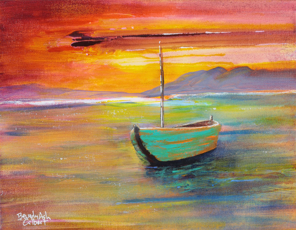 Waiting For The Tide - Sea of Color Painting Collection - Beverly Ash Gilbert