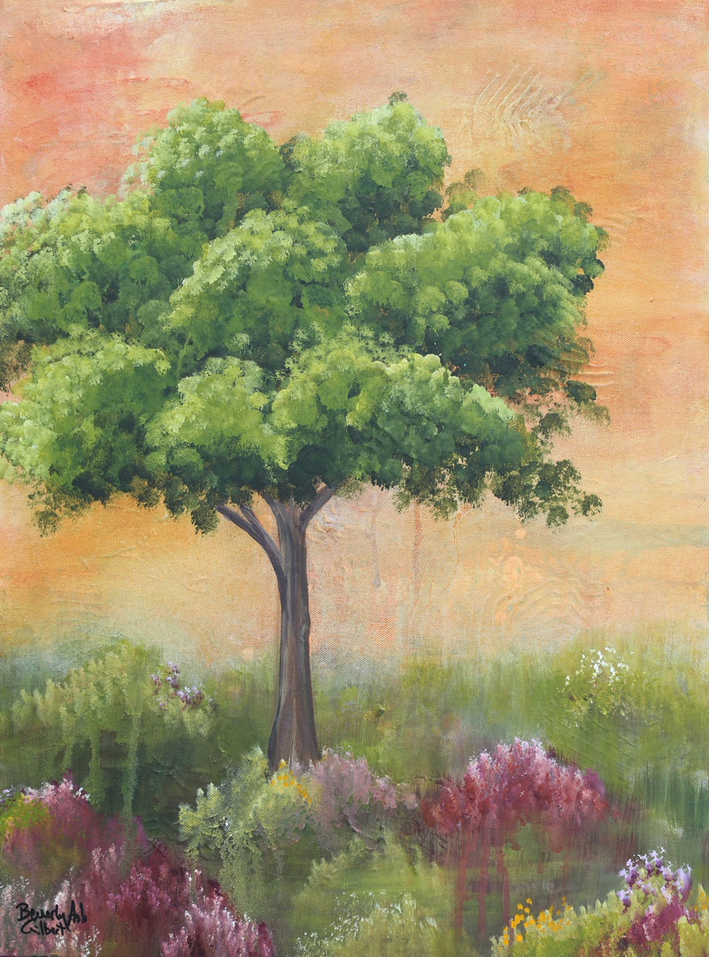Apricot Sky - Dreamy Landscapes Painting Collection - Beverly Ash Gilbert