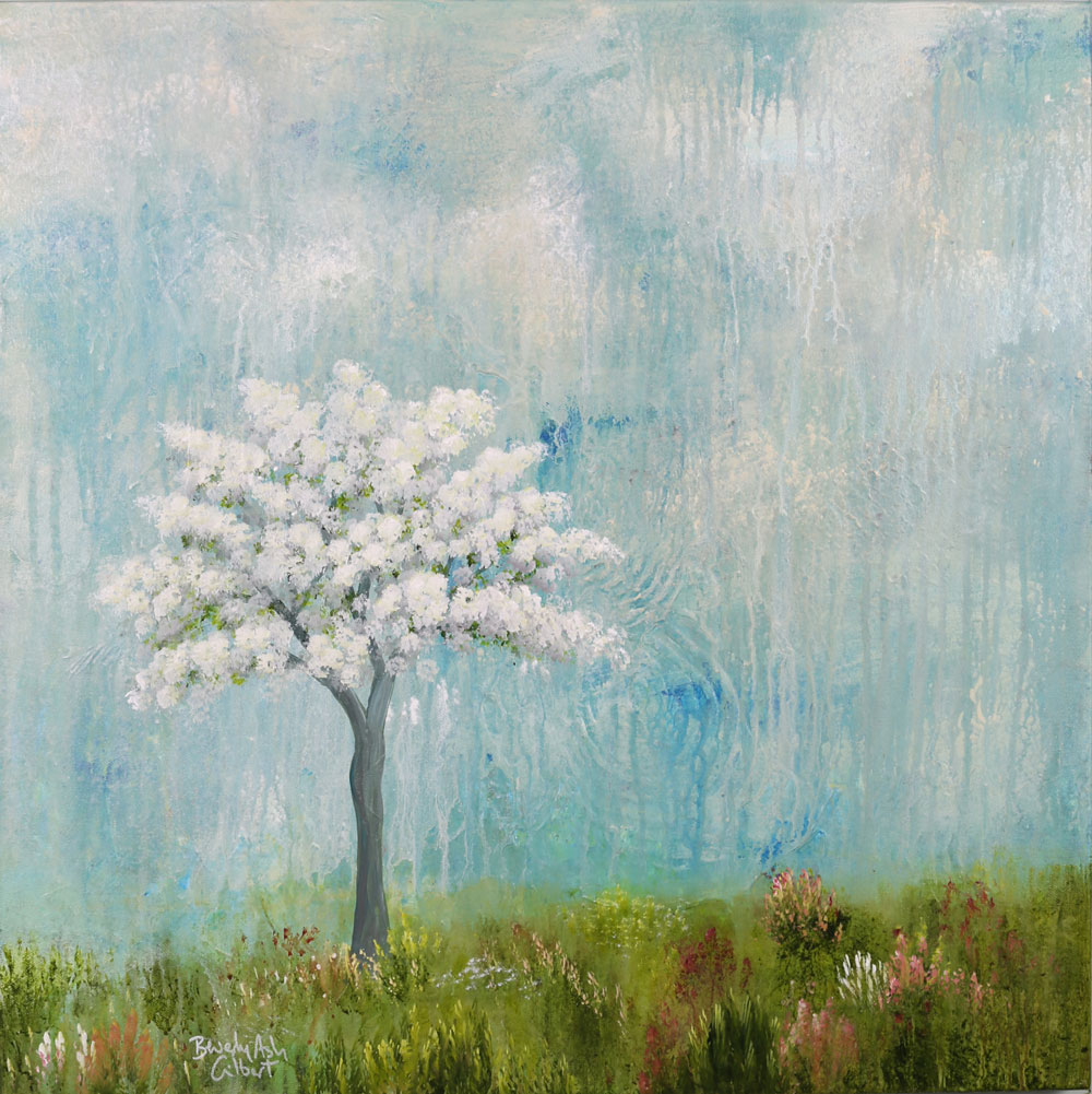 Cherry Blossoms - Dreamy Landscapes Painting Collection - Beverly Ash Gilbert
