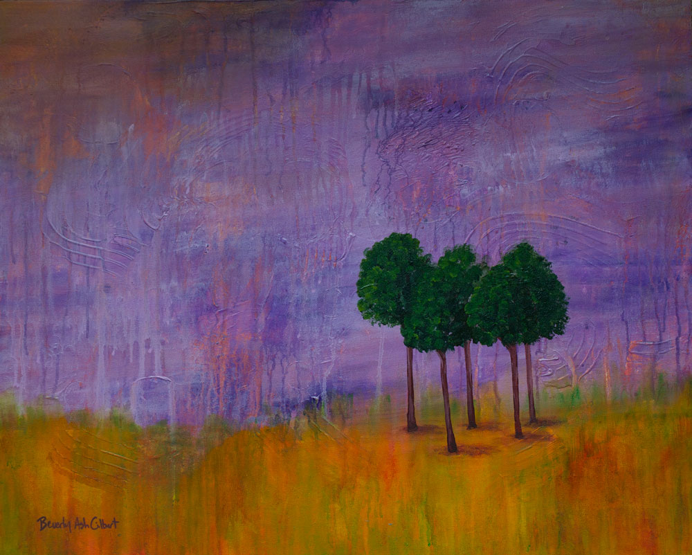 Purple Sunset - Dreamy Landscapes Painting Collection - Beverly Ash Gilbert