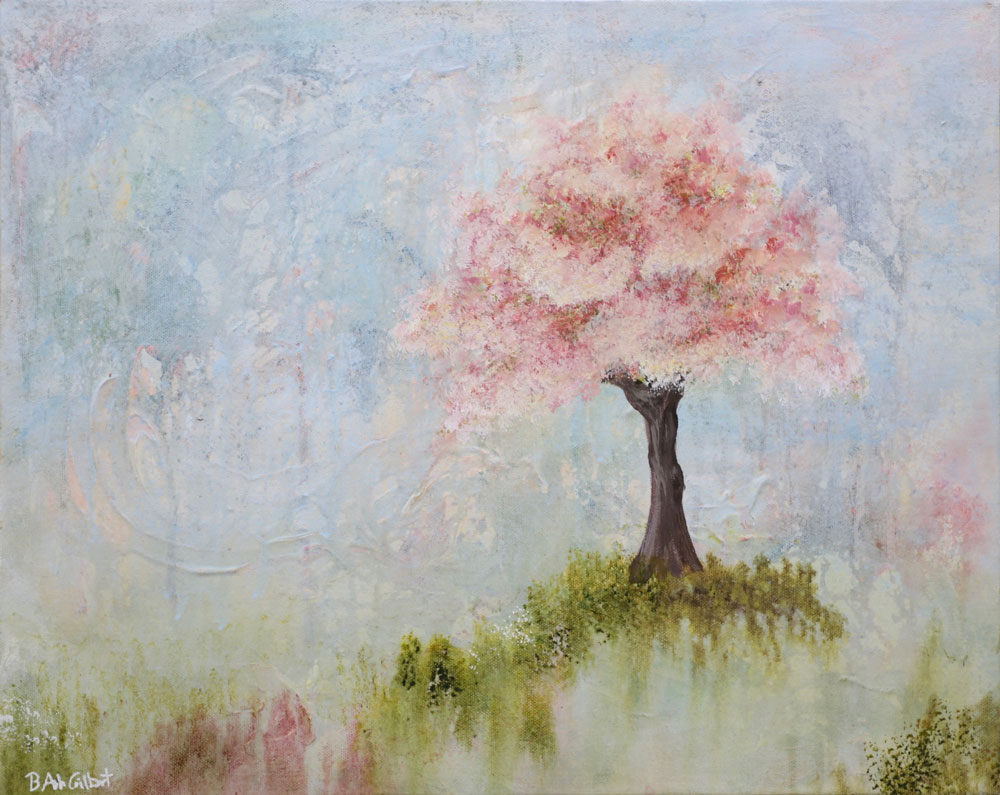 Spring Blossoms - Dreamy Landscapes Painting Collection - Beverly Ash Gilbert