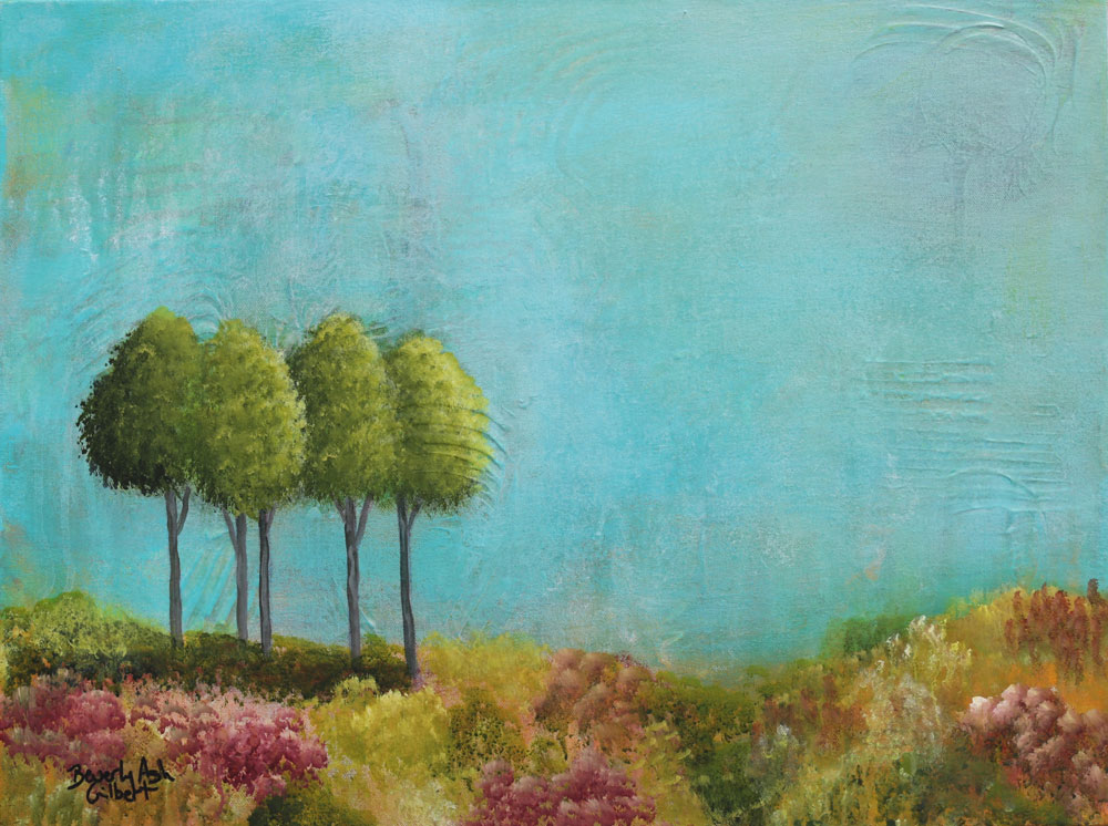 Turquoise Sky - Dreamy Landscapes Painting Collection - Beverly Ash Gilbert