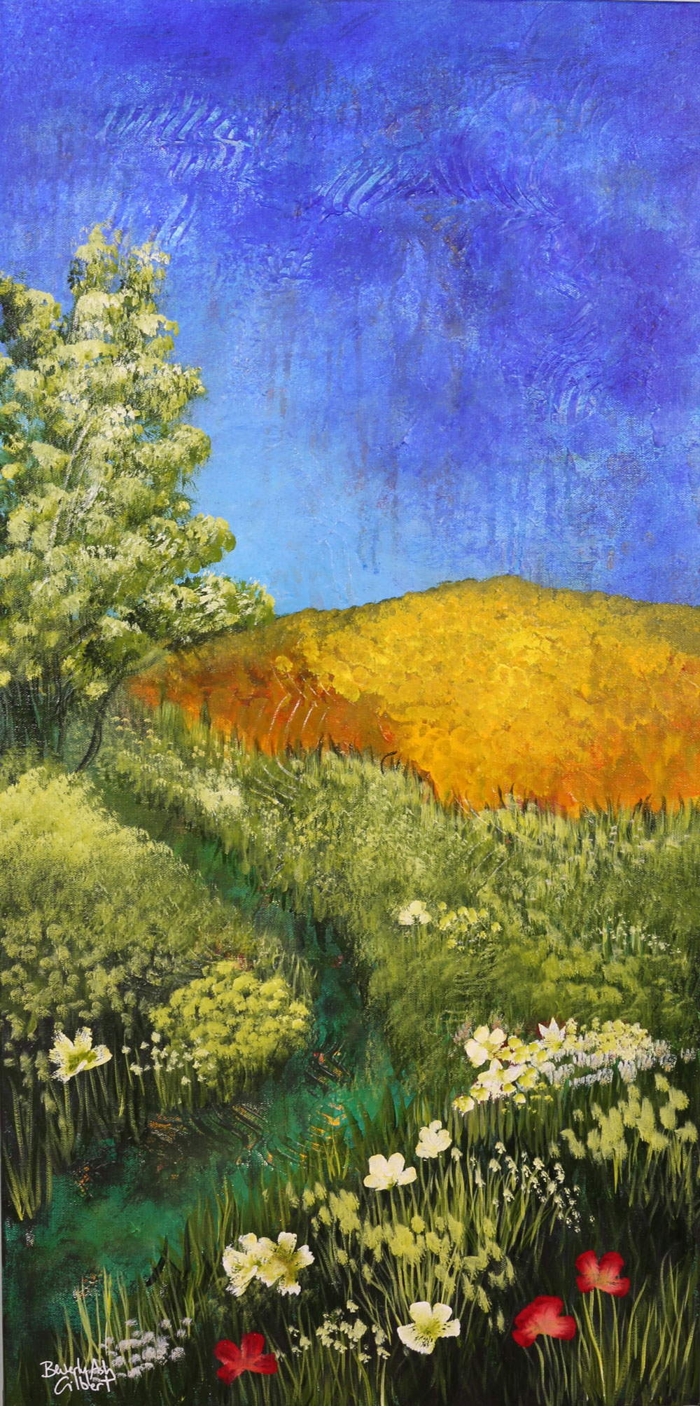 Wildflower Meadow - Dreamy Landscapes Painting Collection - Beverly Ash Gilbert