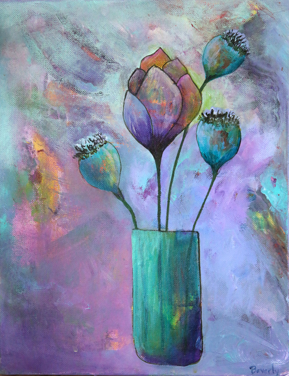 Poppy Pods - Blooms Painting Collection - Beverly Ash Gilbert