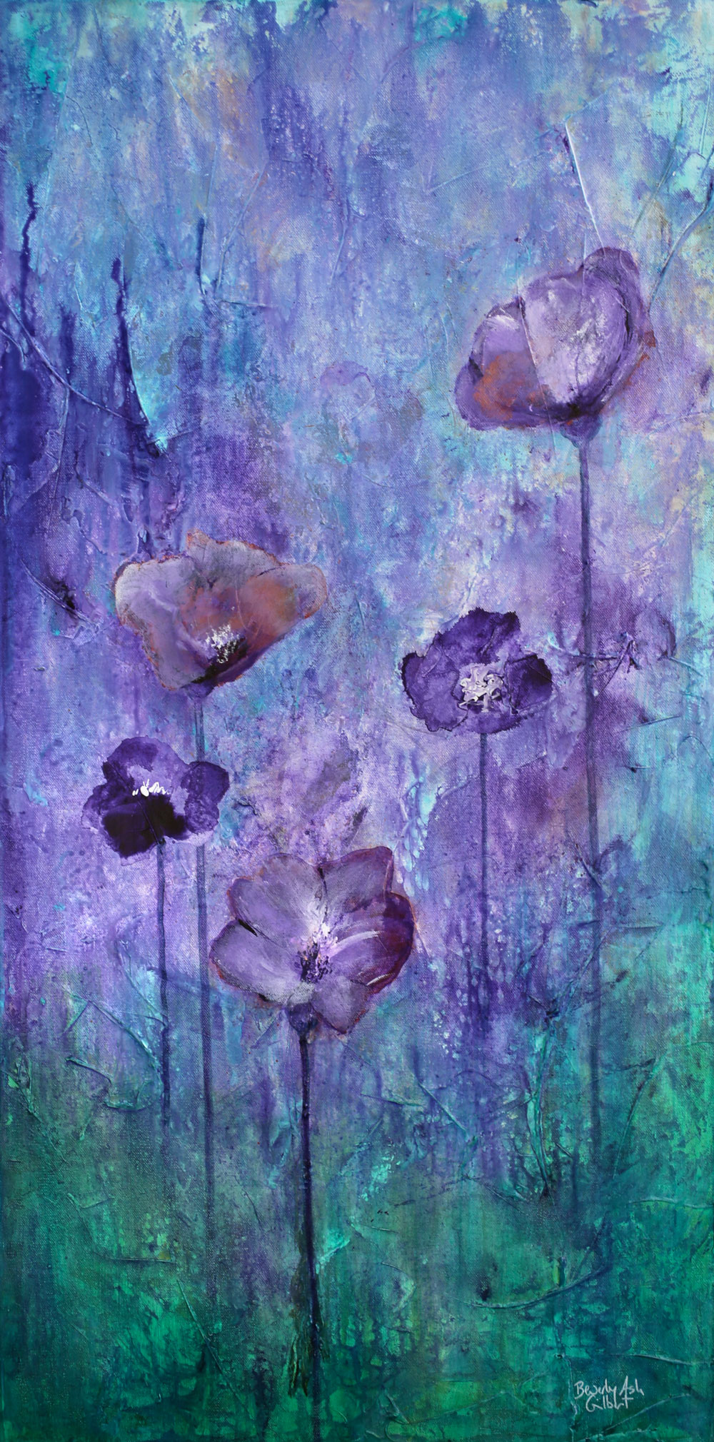 Purple Flower Garden - Blooms Painting Collection - Beverly Ash Gilbert