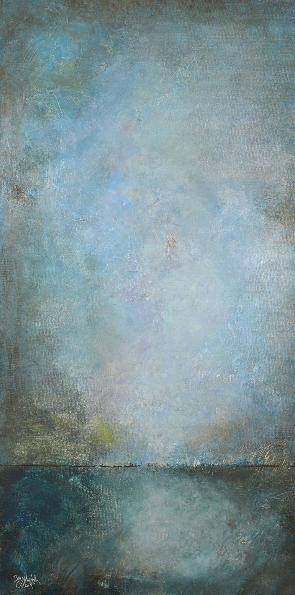 Fog On The Lake - Color Play Painting Collection - Beverly Ash Gilbert