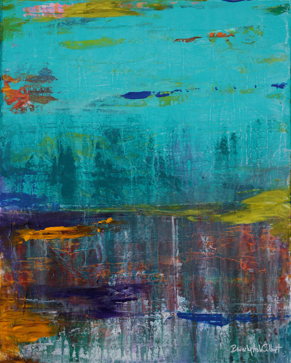 Glass Lake - Color Play Painting Collection - Beverly Ash Gilbert