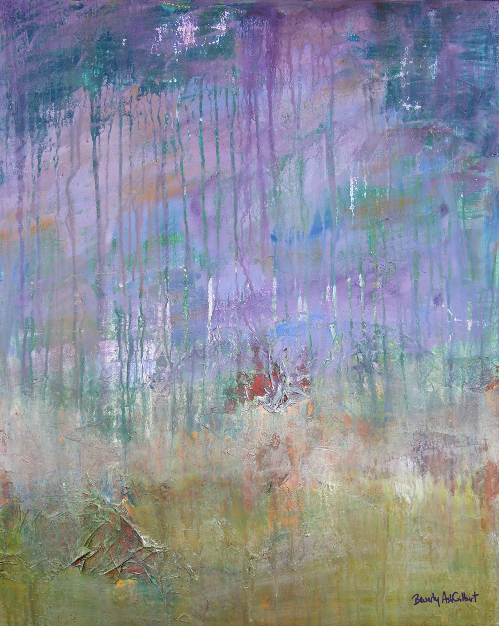 Purple Mist - Color Play Painting Collection - Beverly Ash Gilbert