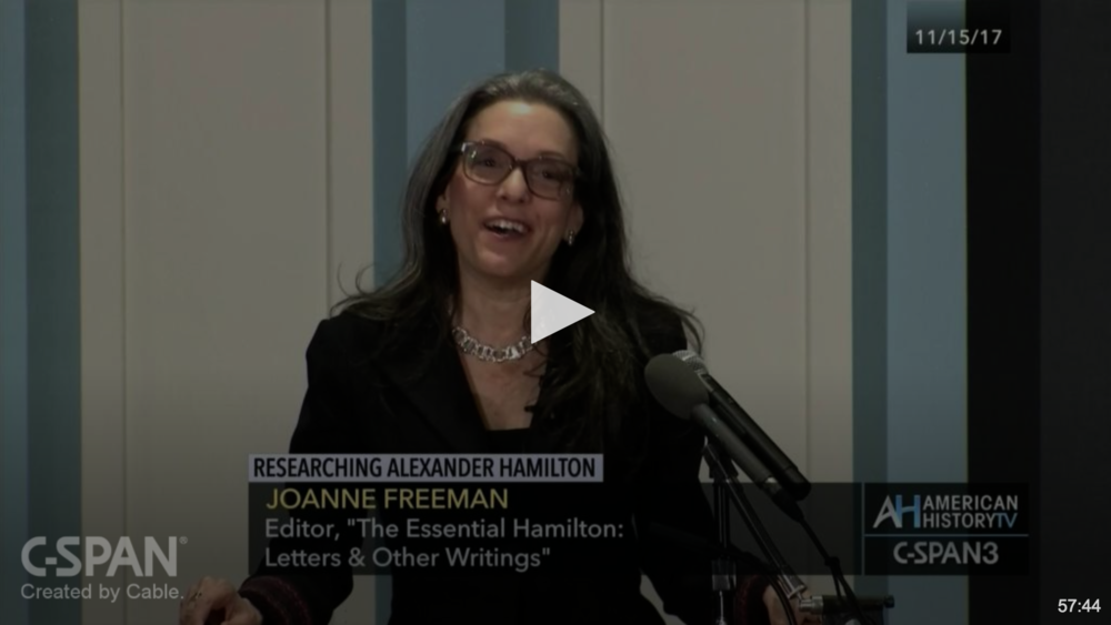 Museum of the American Revolution - November 17, 2017Researching Alexander HamiltonA look at the joys and challenges of uncovering Hamilton's character and political mindset in his private papers.Click to watch →