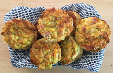 zucchini and bacon muffins
