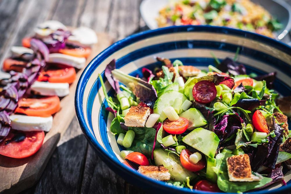 serving of fresh salad