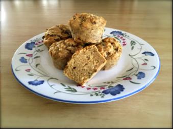 banana and sultana muffins