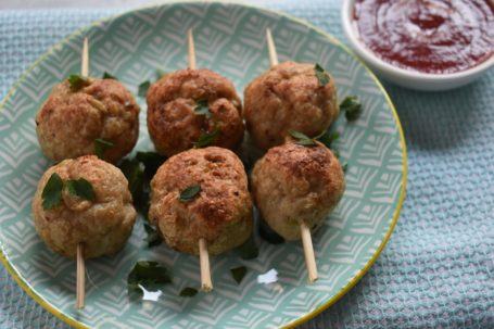 chicken and apple meatballs