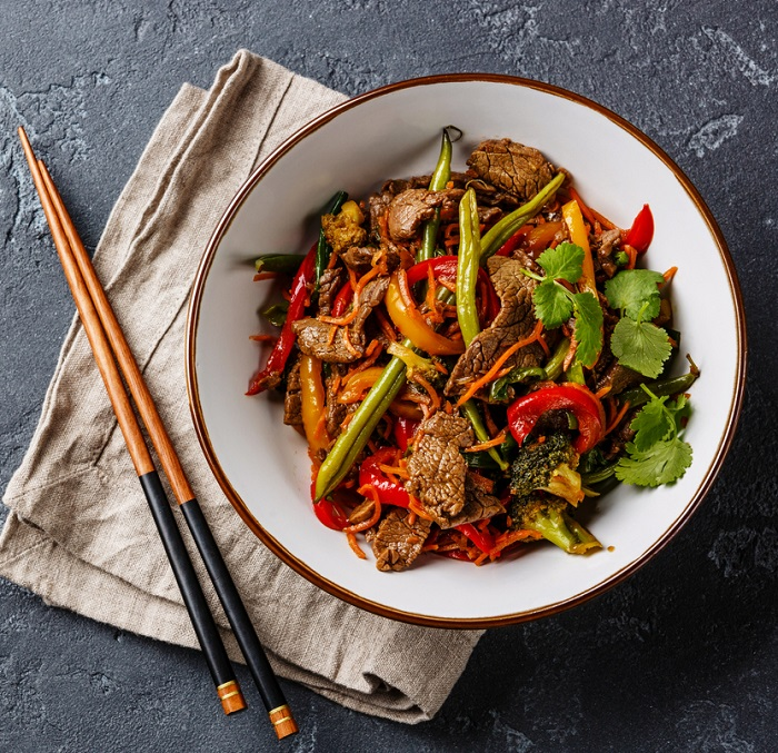 honey soy beef and vegetables