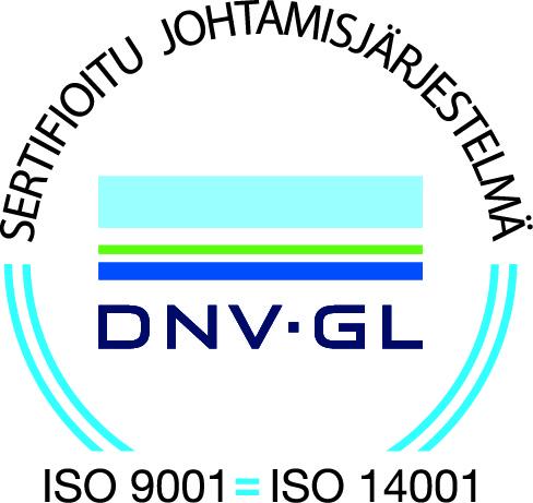 Sertifikaatti: ISO 9001:2015   Sertifikaatti: ISO 14001:2015