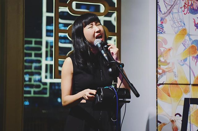 Just got these sweet shots from my little 2-song set at the Singapore Art Week closing dinner 🧀🍷 thanks to Singapore Tourism Board who were amazing to work with as usual! 🖤  Thank you for a great gig, gorgeous meal and beautiful view, #STB 🌹