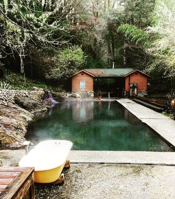 Our other favorite medicine from nature. Orr Hot Springs in Ukiah, California.
