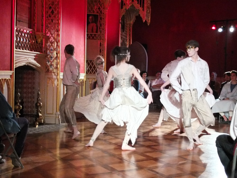 """The Ghost's Dance"" in the golden ballroom at Strawberry Hill House"
