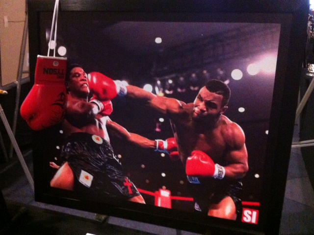 Tyson gloves and photo