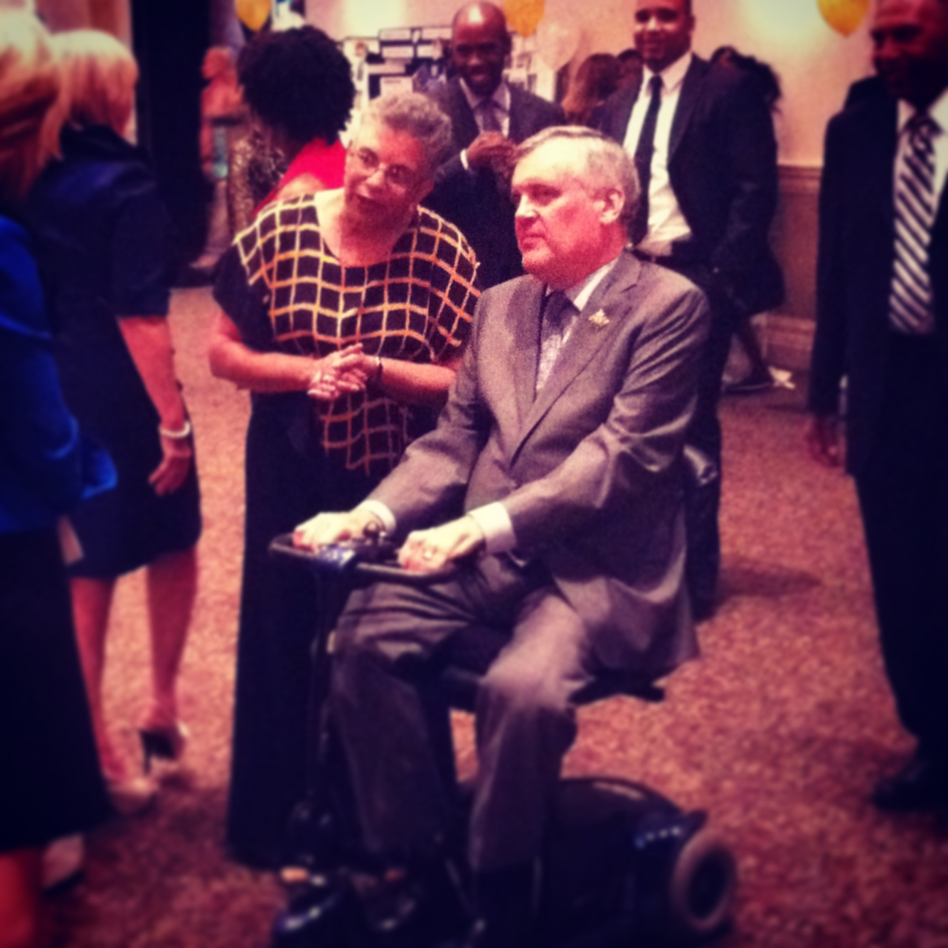 Bernice Carnegie and the Honourable Lieutenant Governor David Onley