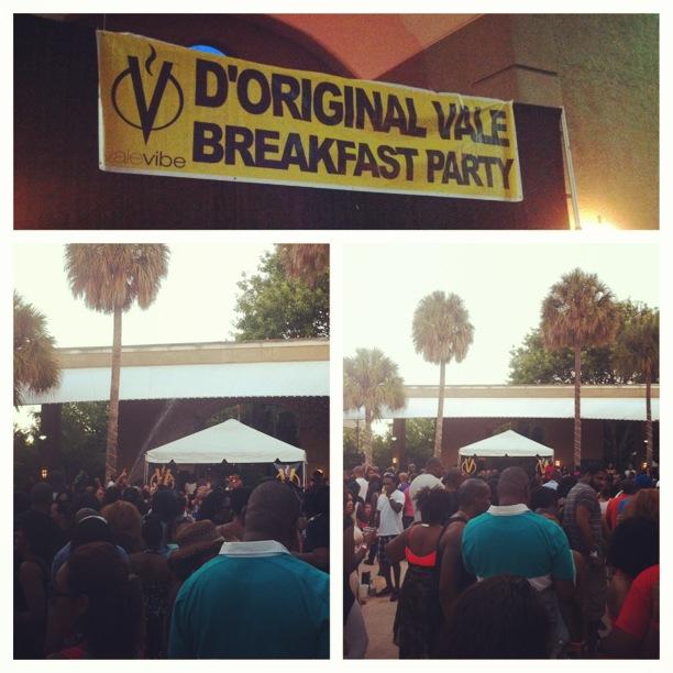 Vale Breakfast Party...jammin' under the sunrise!