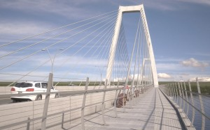 - East End Bridge pedestrian & bicycle lane