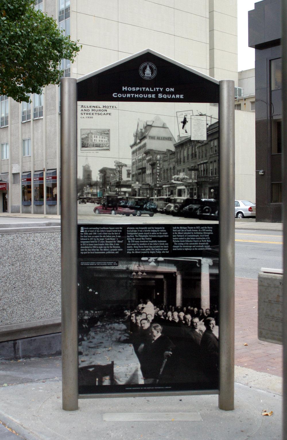 downtown historic street marker
