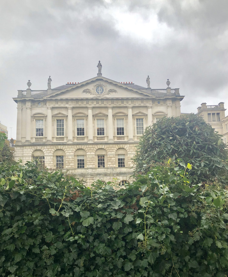 Spencer House  as seen from the park walkway….