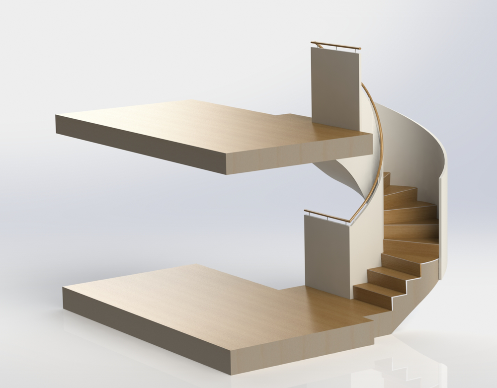 Cad-Spiral-Stairs-Overview