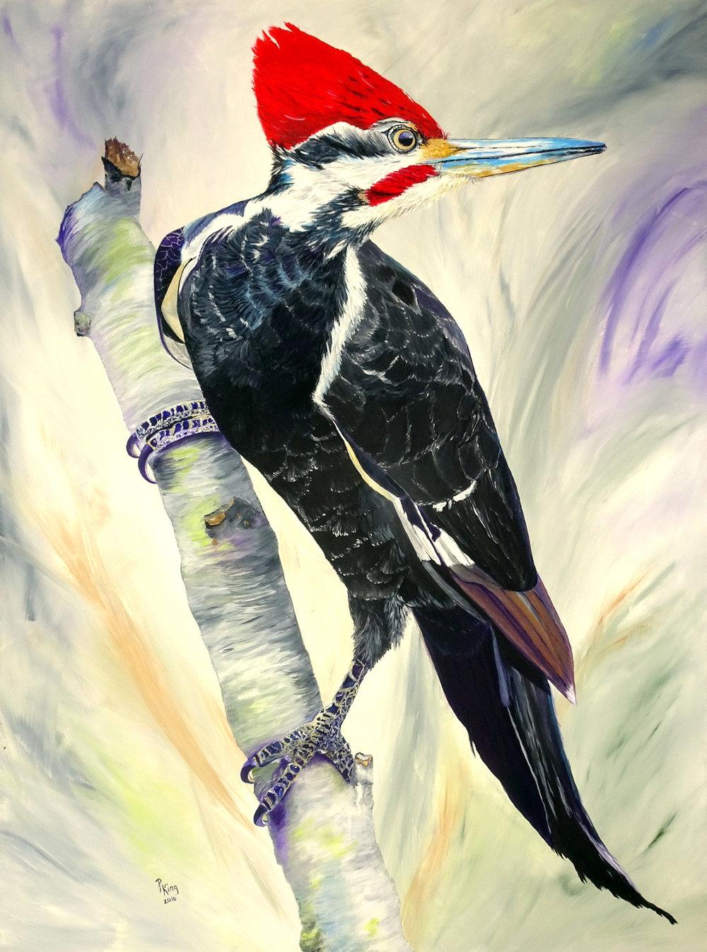 """POWERFUL"",  Acrylic on Canvas,  36x48 inches,  $1,250"