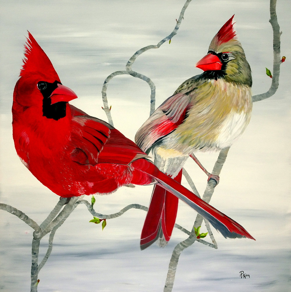 """""""TRUE LOVE"""",  Acrylic on Canvas,  36x36 inches,  $1,100"""