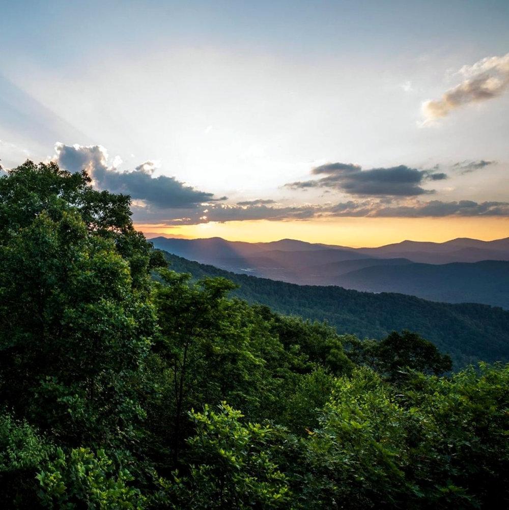 Artwork of the Blue Ridge Mountains