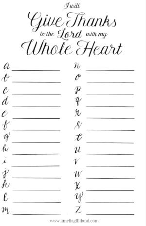 gratitude alphabet