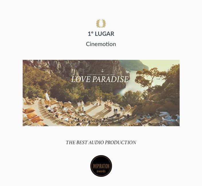 1 lugar Categoria Best Audio Production Awards 2017