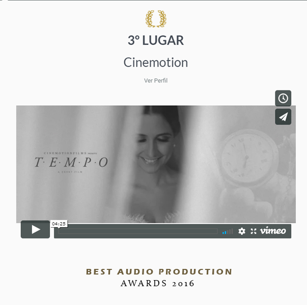 3 lugar Best Audio Production - Awards 2016